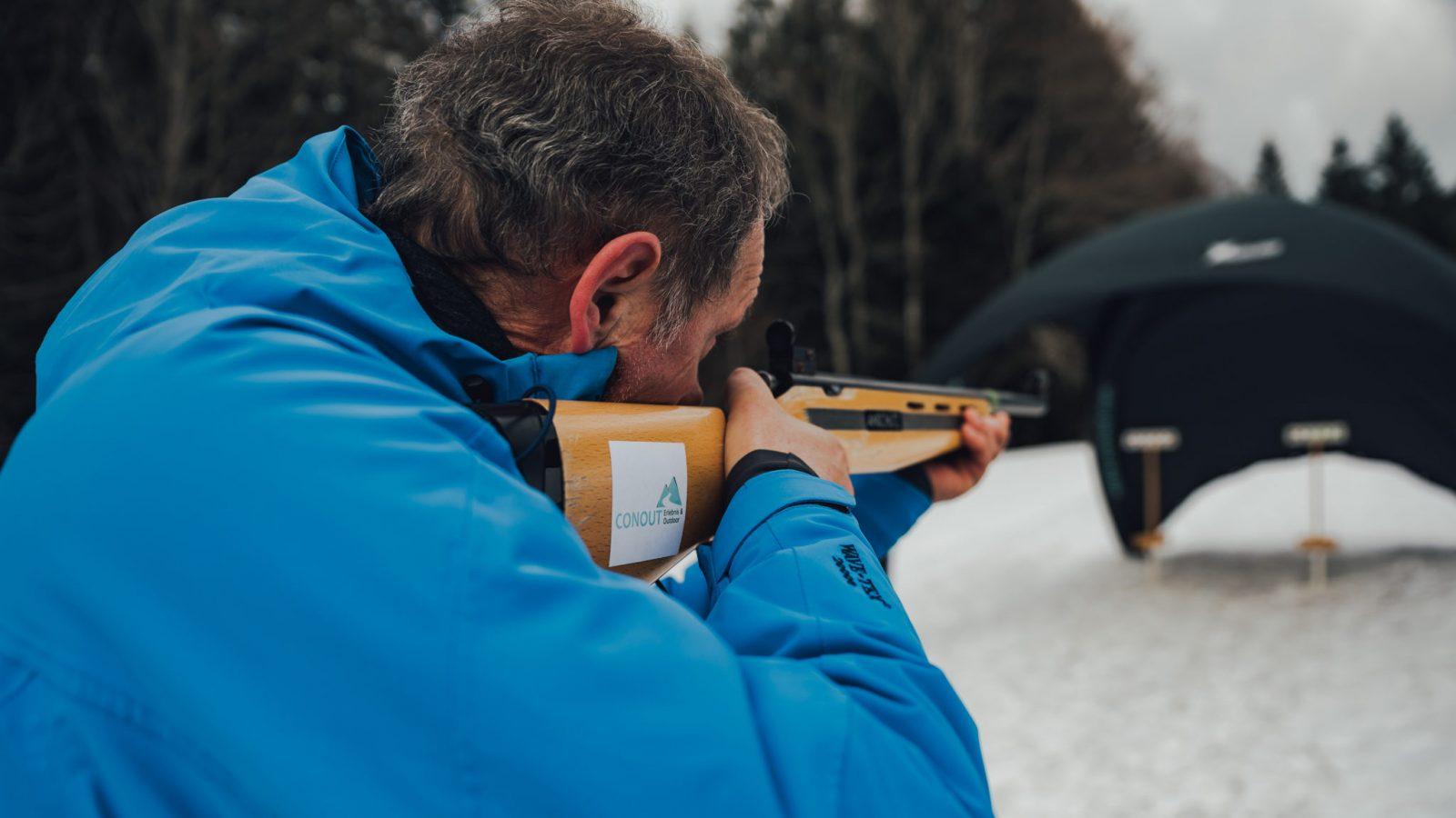 Conout-Lasergewehr-Biathlon